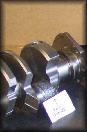 welding a cracked crankshaft